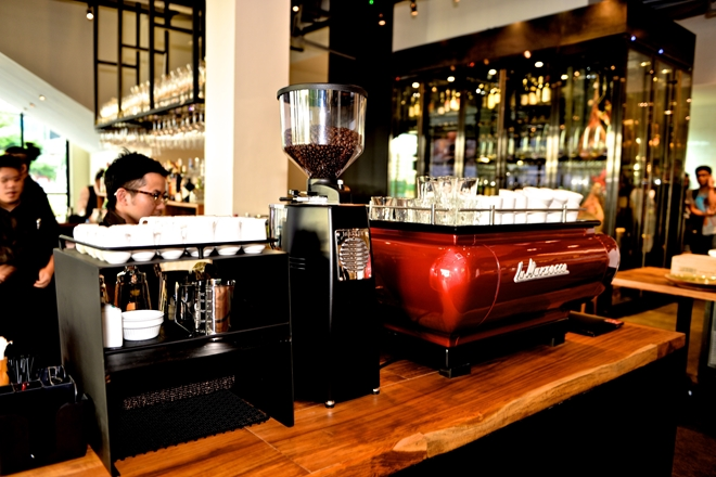s-Salvatore Cuomo & Bar serves specially imported Paul Bassett coffee.