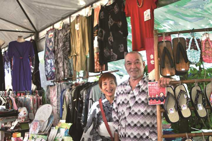 "Mr. Mike selling handmade ""Waraji"" whose presence is most conspicuous in the market. Although he looks European or American, he is a clear Japanese. ""I make Japanese ""Waraji"" with the material of the Philippines, That is very interesting. Because I am mixed."""