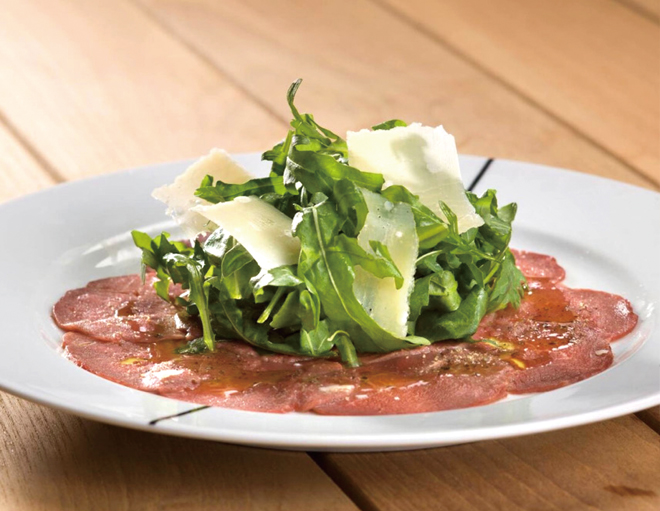 Bresaola Beef with Rocket Salad and extra Virgin Olive Oil P790